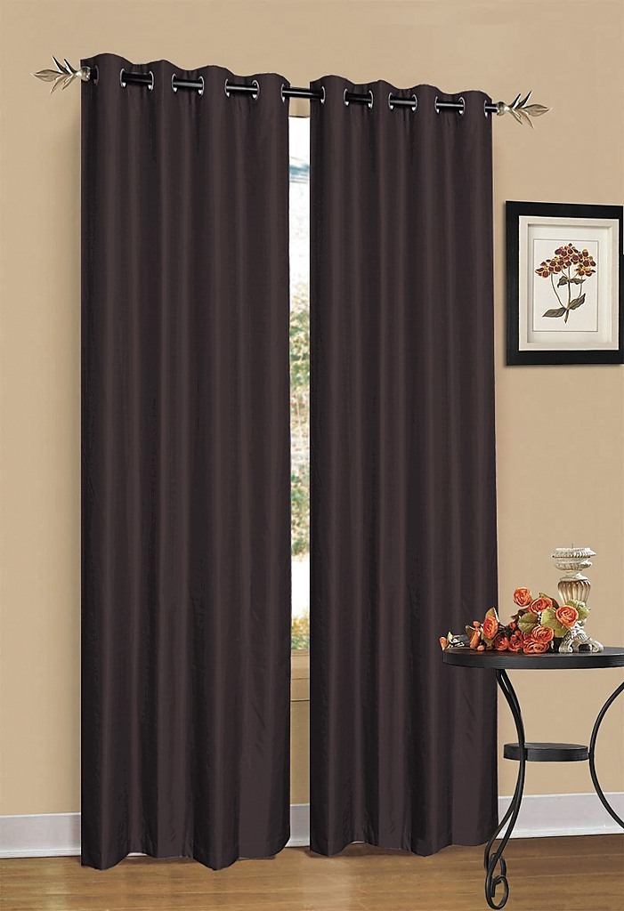 Chocolate brown blackout curtains