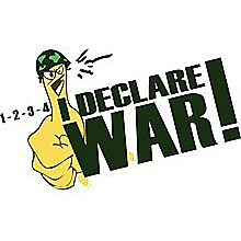 T-Shirt - 1-2-3-4 I Declare Thumb War - Colour-Black