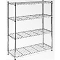 Modular Chrome Wire Storage Shelf 90 x 45cm Steel Shelving