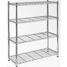 Modular Chrome Wire Storage Shelf 90 x 35cm Steel Shelving