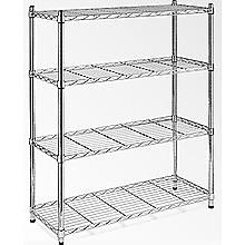 Modular Chrome Wire Storage Shelf 120 x 60cm Steel Shelving