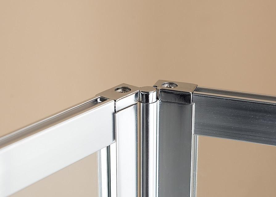 4 Fold Chrome Folding Bath Shower Screen Door Panel 1000 X