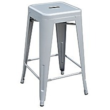 Set of 4x 66cm Tolix Retro Reproduction Cafe Bar Stools - Silver