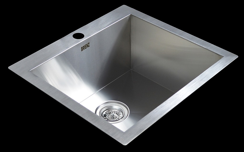 530x505mm handmade stainless steel topmount kitchen laundry sink with waste diy renovation