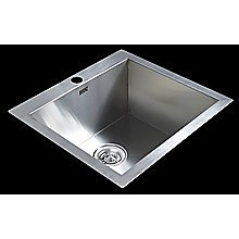 530x505mm Stainless Steel Single Bowl Sink with Round Waste