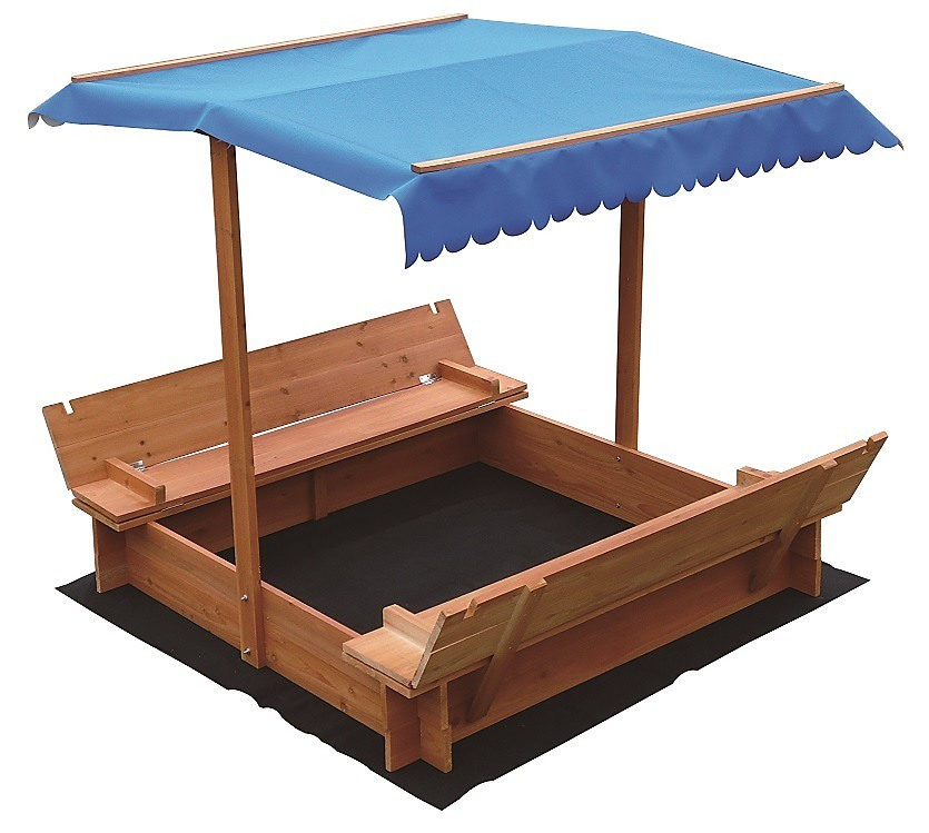Kids Wooden Toy Sandpit With Canopy Toys Gt Outdoor