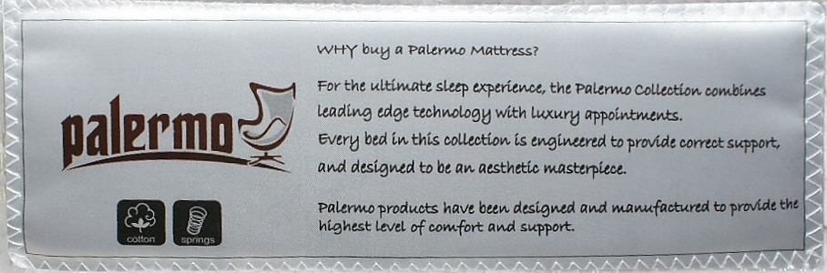 The Palermo Queen Luxury Latex Pillow Topper Spring Mattress
