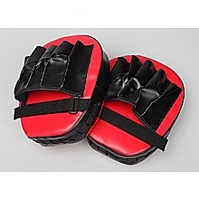 2 x Thai Boxing Punch Focus Gloves Kit Pad Mitt Karate Muay Training Red & Black
