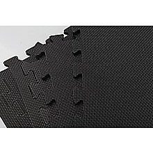 4 Tiles EVA Fitness Home Gym Interlocking Floor Puzzle Mat - Black