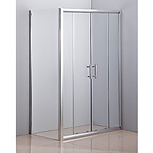 1200 x 700mm Sliding Door Safety Glass Shower Screen By Della Francesca