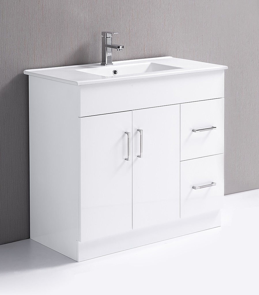 Bathroom vanity basin - 900mm Bathroom Vanity Unit High Gloss Finish Ceramic Basin Della Francesca