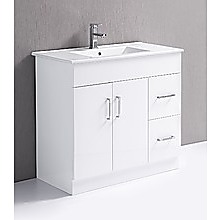 900mm Bathroom Vanity Unit, High Gloss Finish, Ceramic Basin - Della Francesca