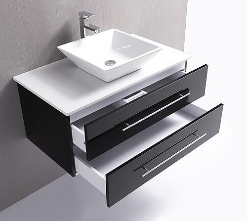 900mm Wall Hung Bathroom Vanity Unit With Stone Top, Basin - Della ...