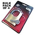 4Pc x 70mm Keyed Alike Security Solid Brass Padlocks  - Use Same Keys For All