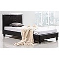 Single Bed Frame Brown PU Leather