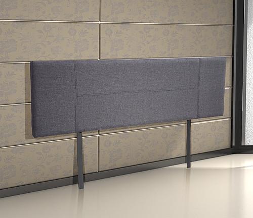 King Grey Linen Fabric Bed Headboard