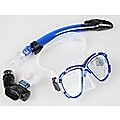 Adult Snorkelling Swimming Diving Mask & Snorkel - Quality Tempered Glass