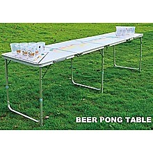 Professional 8ft Beer Pong Table Drinking Game