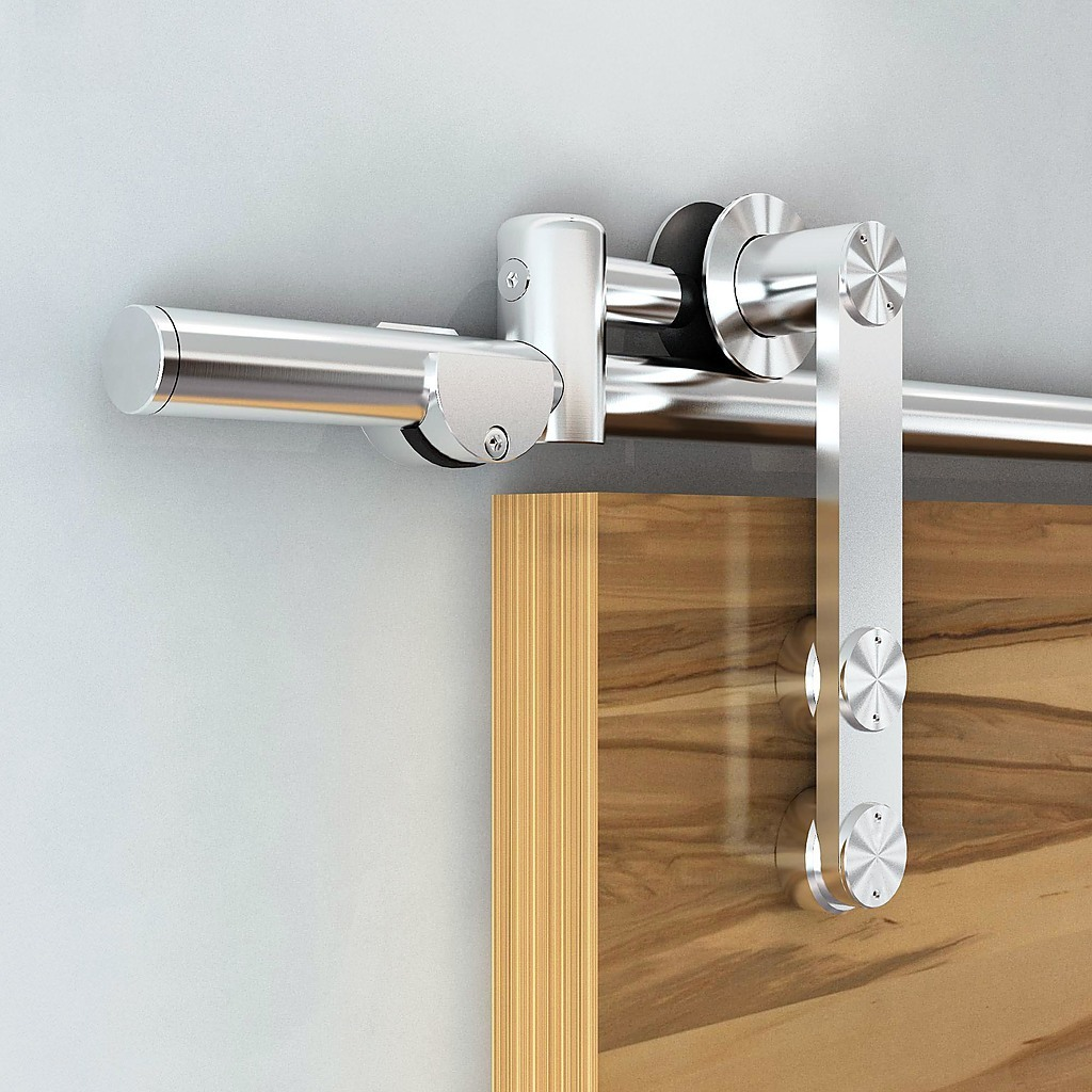 Homemade Sliding Door Closer: Sliding Barn Door Hardware Stainless Steel