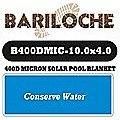 Solar Outdoor Swimming Pool Cover Blanket -10x4m