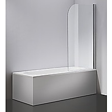 180° Pivot Door 6mm Safety Glass Bath Shower Screen By Della Francesca - 80 x 140cm