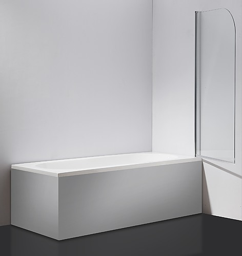 180 176 Pivoting Safety Glass Shower Screen By Della Francesca