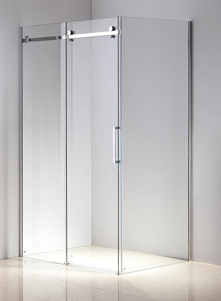 Shower Screen 1200x900x1950mm Frameless Glass Sliding Door By Della