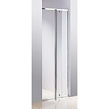 82 - 90cm Finger Pull Wall to Wall Shower Screen By Della Francesca