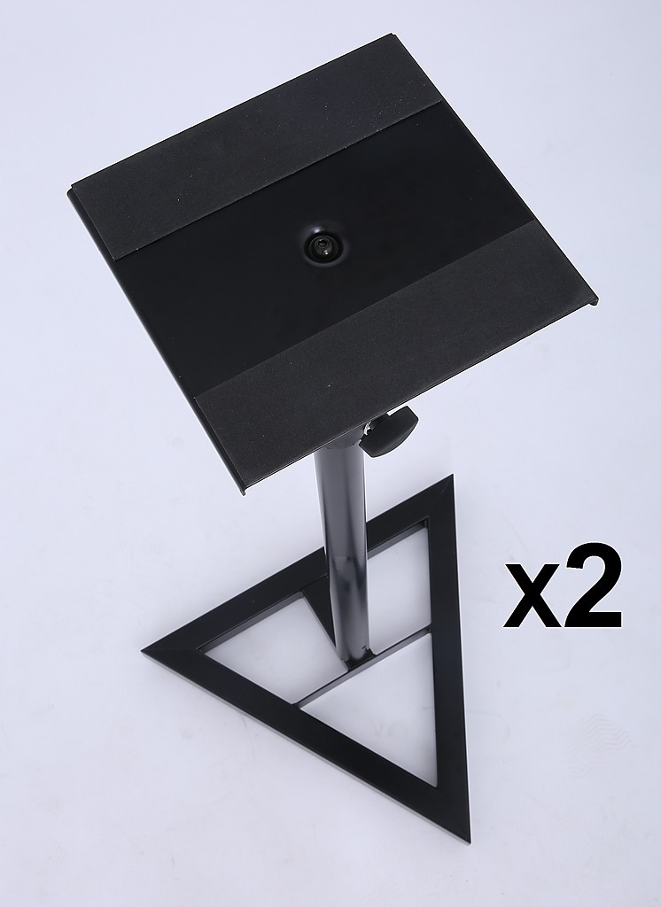 2x pa studio monitor speaker floor stand home lifestyle musical equipment. Black Bedroom Furniture Sets. Home Design Ideas