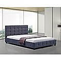 Double Grey Linen Fabric Deluxe Bed Frame