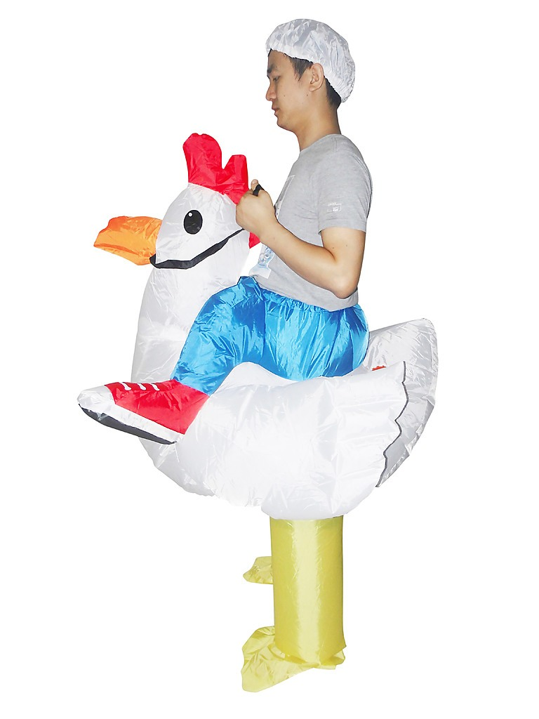 Chicken Fancy Dress Inflatable Suit Fan Operated Costume