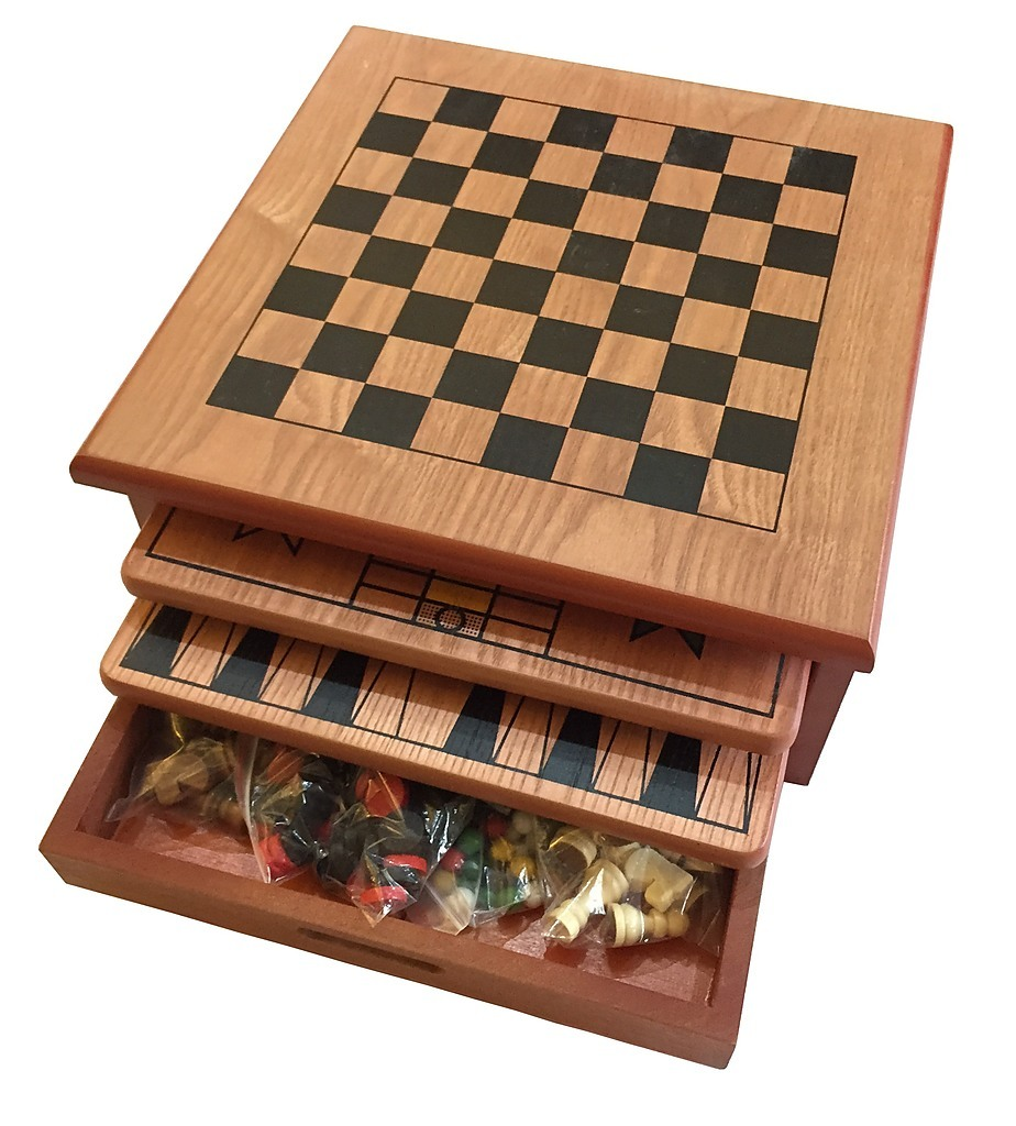 10 in 1 wooden chess board games slide out best checkers house unit rh factoryfast com au
