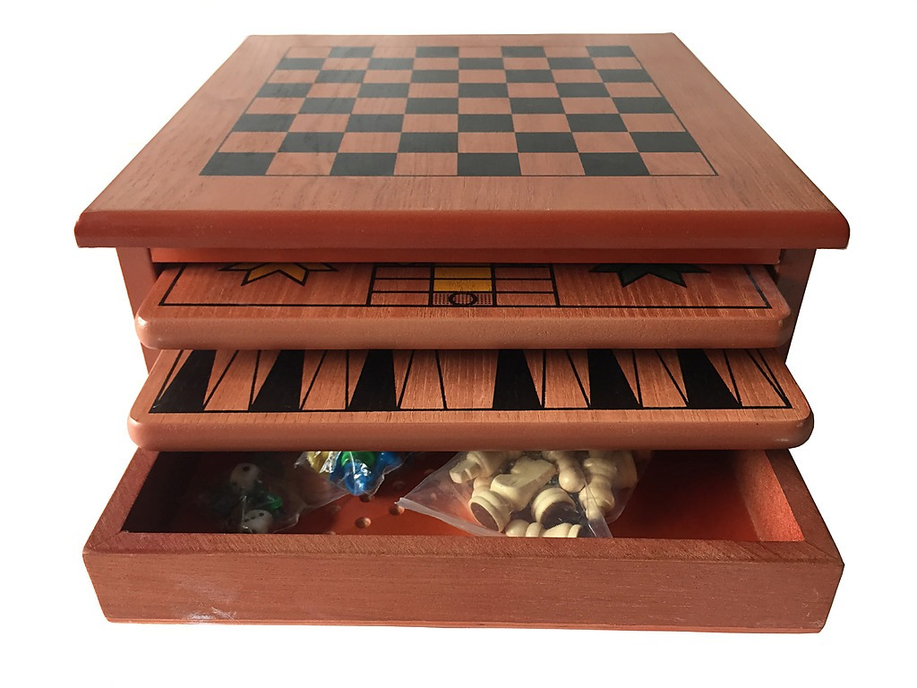 10 in 1 wooden chess board games slide out best checkers for 10 in 1 table game