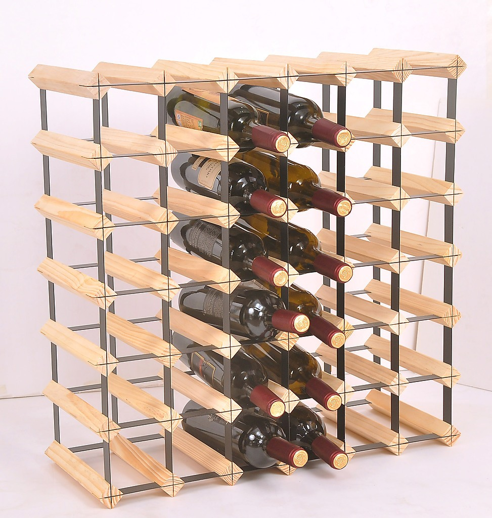 wine bottle wooden pine modularack natural x rack