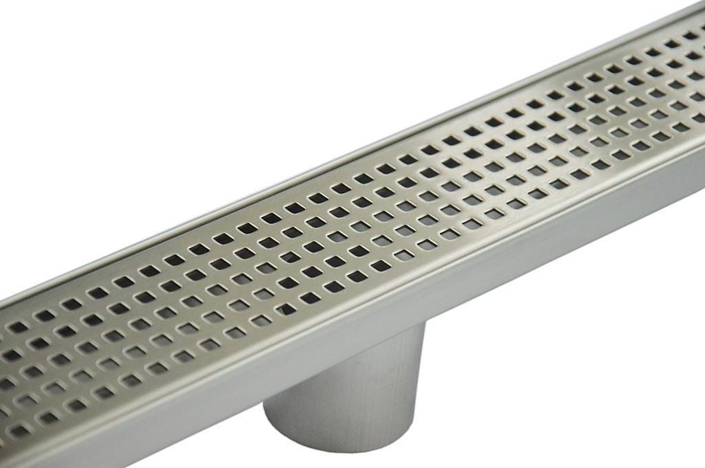 800mm stainless steel linear square perforated grate with 50 mm rh factoryfast com au