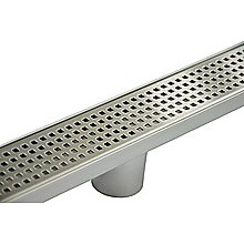 Bathroom Shower Stainless Steel Grate Drain w/ Centre outlet Floor Waste