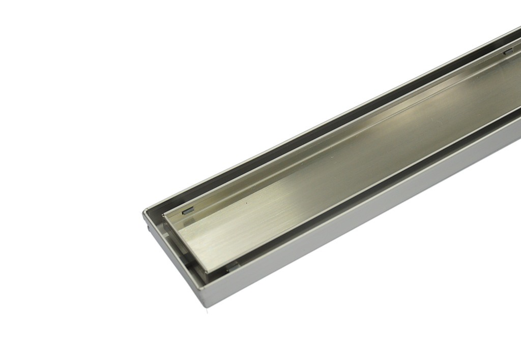 900mm Tile Insert Stainless Steel Linear Square With 50mm