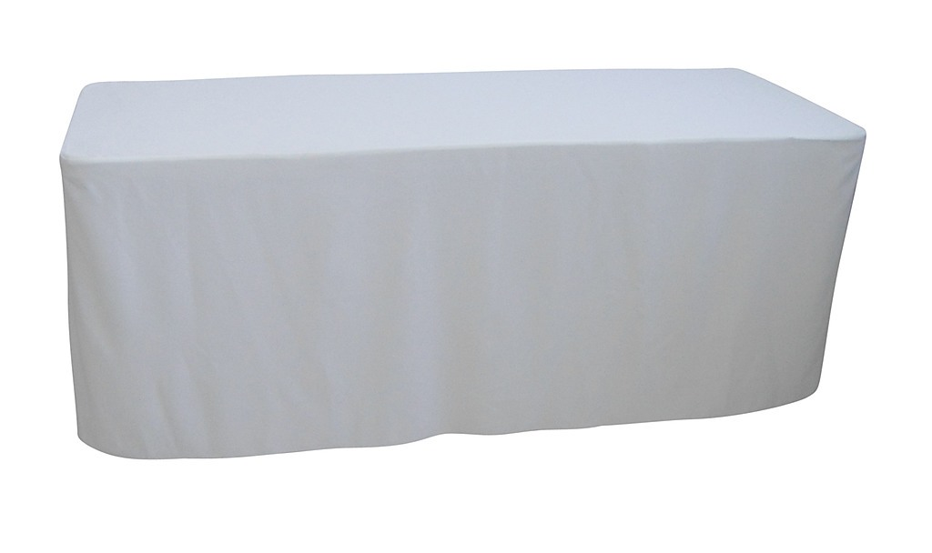 6 foot white table cloth trestle cover home lifestyle kitchenware. Black Bedroom Furniture Sets. Home Design Ideas