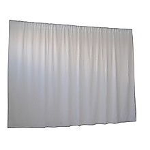 2.8M X 6M White Wedding Drape Backdrop Curtain