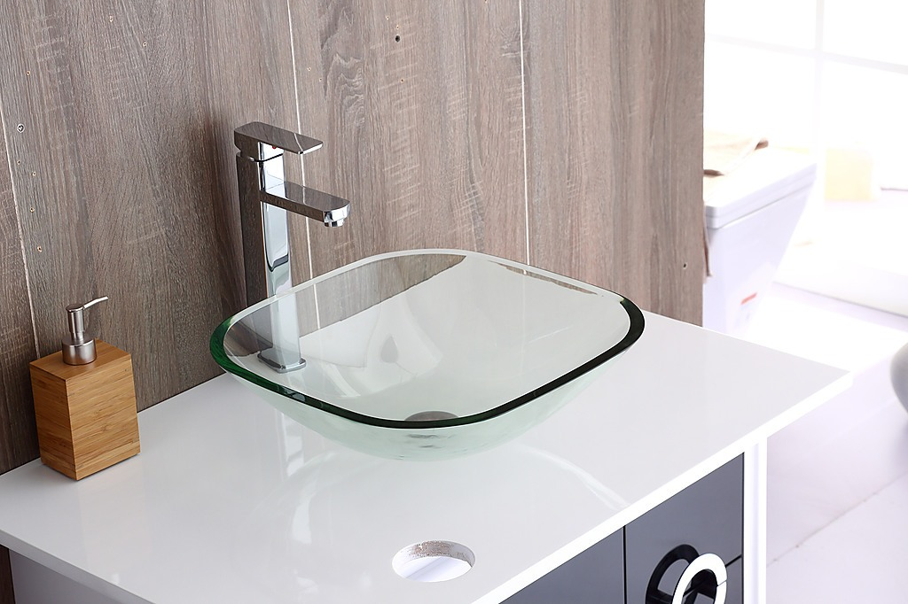 12mm Tempered Glass Counter Top Basin