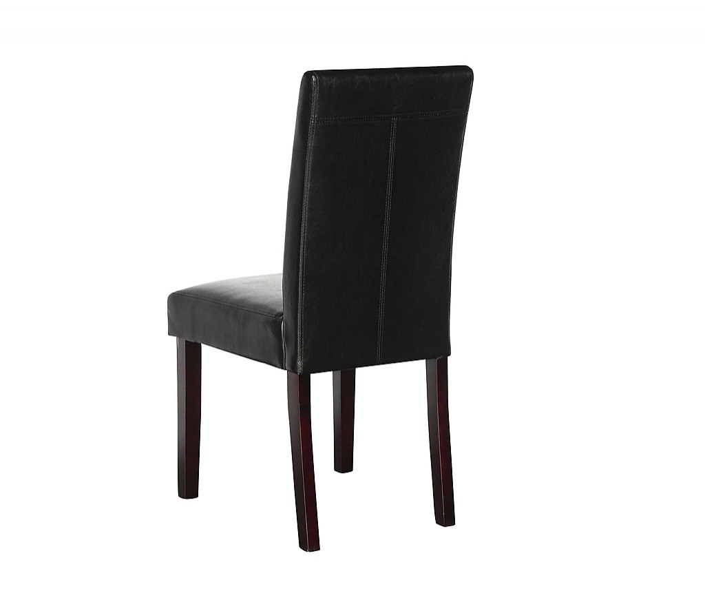 2 X Pu Leather Palermo Dining Chairs High Back Black