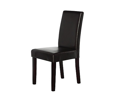 2 X PU Leather Palermo Dining Chairs High Back Brown Furniture