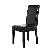 2 x Palermo Premium PU Leather Black High Back Dining Chairs