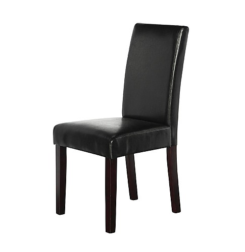 pu leather palermo dining chairs high back black furniture