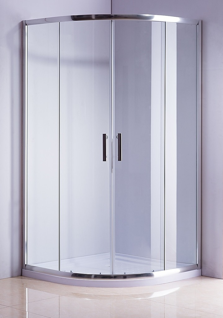Rounded Sliding Curved Framed Shower Screen 6mm Toughened