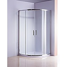 Rounded Sliding Curved Shower Screen 6mm Toughened Glass with Base
