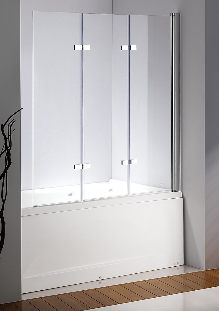 3 fold folding shower screen 130 x140cm for Folding shower for small bathrooms