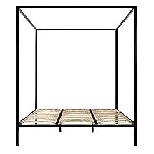 4 Four Poster King Bed Frame - Black