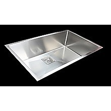 810x505mm Handmade 1.5mm Stainless Steel Undermount / Topmount Kitchen Sink with Square Waste