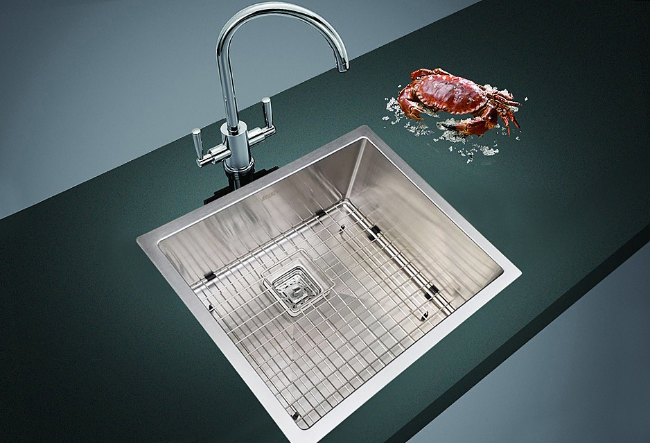 430x455mm handmade 1 5mm stainless steel sink with square waste rh factoryfast com au